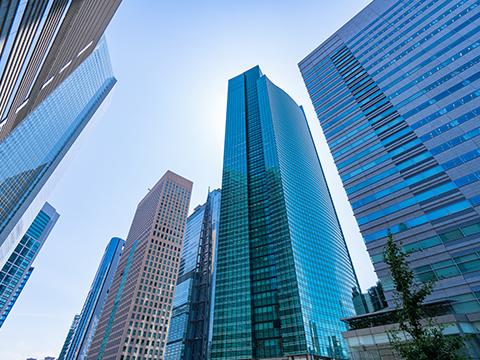 マンションとビルの画像